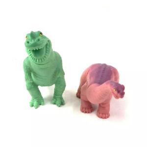 Definitely Dinosaurs Pink Apatosaurus Green T Rex 1988 Playskool Wendys