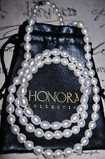 Strand/String White Fine Pearl Necklaces & Pendants