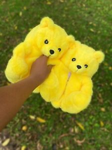 Womens teddy Bear Slippers One Size Fits All