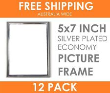 "12 x ECONOMY 5x7"" Silver Plated Thin Picture Frame Table Top Display Photo Frame"