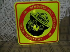Original new stock ONLY YOU CAN PREVENT FOREST FIRES Smokey the Bear sign 2