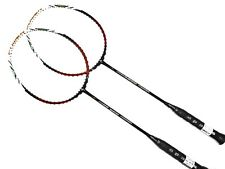 2x Apacs Nano 900 Power Red Badminton Racket (New Version)  FREE String & Grip