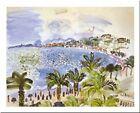 La Promenade Des Anglais by Raoul Dufy 32x24 Museum Art Print Poster