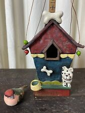 Red Carpet Studios Birdhouse: Doghouse With Dalmatian And Bones, Copper Hanging