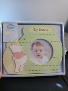 """Disney Baby Winnie the Pooh My Hunny Photo Picture Frame 3.5"""" X 3.5"""" Photo"""