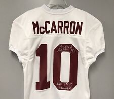 AJ A.J. McCarron SIGNED Alabama Football Jersey PHOTO PROOF w/ 2011 2012 Champs
