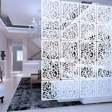 12pcs DIY Room Divider Hanging Wall Panels Decor Art Plastic Screen Partition