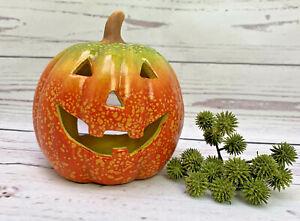 Kürbis Windlicht Halloween Ø15 Herbstdeko Kerzenhalter Kürbiskopf Laterne Herbst