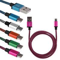 câble Universel Micro USB Data Tressé Sync Chargeur pour Samsung Galaxy 2A