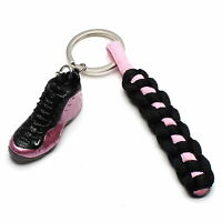 3D Mini Sneaker Shoes Keychain Pearlized With Strings for Air Foamposite One