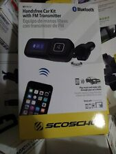 Scosche Bluetooth Hands Free Car Kit w/ FM Transmitter w/ USB Charging Port OBox