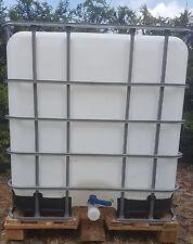 Wassertank 1000 Litr,  IBC-Container, IBC, Wassertonne, inkl. auslaufha