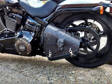 Harley Davidson Softail Breakout Leather Swingarm Skull Left Pannier Saddle Bag