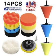 14pcs Polishing Kit Buffing Pad 1/3''/6mm Wheel Polishing Cone Car Body Wheels