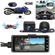 1 PC Motorcycle Car Biker Dual Action Camera Video Recorder LCD 140° Waterproof