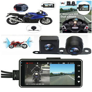 1 PC Motorcycle Car Biker Dual Action Camera Video Recorder LCD 140° Waterproof