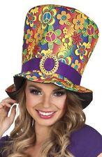 NUEVO Adulto AÑOS 60 AÑOS 70 Flower Power Paz Hippy Hippy Accesorio de disfraz