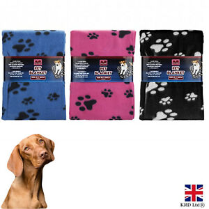 Large Pet Blanket Soft Touch Warm Cosy Fleece Dog Puppy Cat Travel Bed Basket