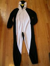 LN Women's very soft Penguin One Piece Pajama Onesie0 Costume, zip front,  Small