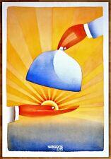 WAGONS LITS * 1988 * Jean-Michel FOLON * 95 x 65 cm * Affiche Originale