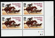 Scott 2754 Plate Block Centennial of Cherokee Strip Land Run MNH L1
