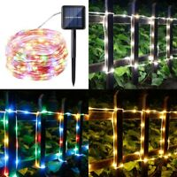 100LED Fairy String Rope Light Solar Power Controller Waterproof Outdoor Xmas