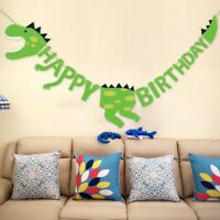 Dinosaur Party Banners Baby Shower Birthday Party Decorations Pennant Kids I8L1