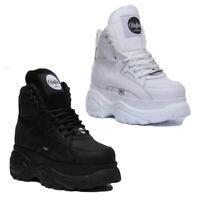 Buffalo Classic Womens Leather Platform Hi Top Boot Colours Size UK 3 - 8