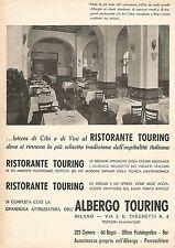 W9452 Albergo Touring - Milano - Pubblicità del 1937 - Old advertising