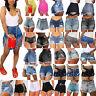 Women Denim Hot Pants High Waisted Shorts Jeans Ripped Casual Beach Pants Bottom