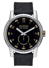 Nixon A938 2222 Men's Patriot Black Brass Leather Strap Watch (NO BOX INCLUDED)
