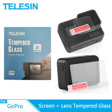 TELESIN Tempered Glass Screen + Lens Protector Anti-Scratch For GoPro Hero 5 6 7