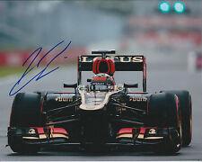 Kimi RAIKKONEN SIGNED LOTUS Formula 1 Autograph 10x8 Photo AFTAL COA RARE