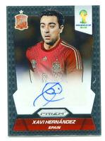 XAVI HERNANDEZ 2014 Panini Prizm World Cup Soccer Spain Auto Autograph Card SP