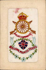 WW1 Regimental Silk. Divisional Mounted Troops. Cyclist Companies.