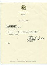 Kirk Fordice Governor Of Mississippi Signed Autograph TSL