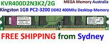 KINGSTON 1GB DDR2 PC2-3200 400MHz Desktop Memory KVR400D2N3K2/2G @ Syd FREE Post
