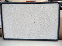 New Quartet Contour Contoured Granite Tackboard 2x3-see slight damage-4x3 OPTION
