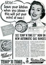 1954 Robertson Fulton Temp 'N TimeOven Temperature & Time Control Print Ad