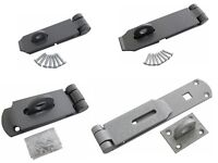 3.5 - 14 INCH HEAVY DUTY HASP AND STAPLE FOR DOOR AND SECURITY LOCKS