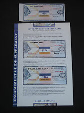 $100 VISA TRAVELLERS CHEQUES -SPECIMEN  INCL. GUIDE   -BARCLAYS BANK - GEM UNC