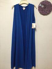 Womens long shrug cover up vest overwrap size small blue LuLa Roe Joy new 177