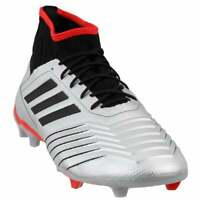 adidas Predator 19.2 Firm Ground  Casual Soccer  Cleats Silver Mens - Size 11 D