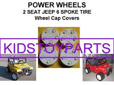 Power Wheels WRANGLER BARBIE JEEP Set of 4 Wheel Center Caps