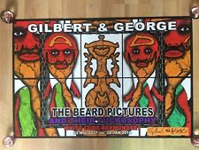 Gilbert and George Hand Signed Ed Poster