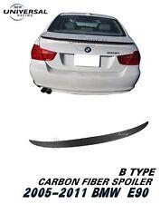 Carbon Fiber Rear Trunk Spoiler Lip for 05-11 BMW E90 3 Series M3 Sedan Type B