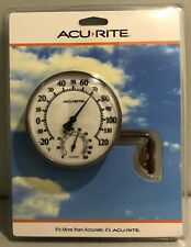 "Brand New AcuRite Swivel Thermometer With Hygrometer 3.5"" Easy Read / Mount"