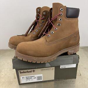 "Timberland Premium 6"" Waterproof  Boot Medium Brown Nubuck Men's Sz 11M NEW"