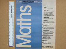 TES CURRICULUM SPECIAL AUTUMN 2000 MATHEMATICS 24 PAGES MATHS TEACHING GUIDANCE