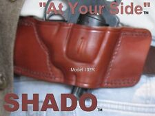 S&W J Frame Leather Holster SHADO 102R Right Hand Brown